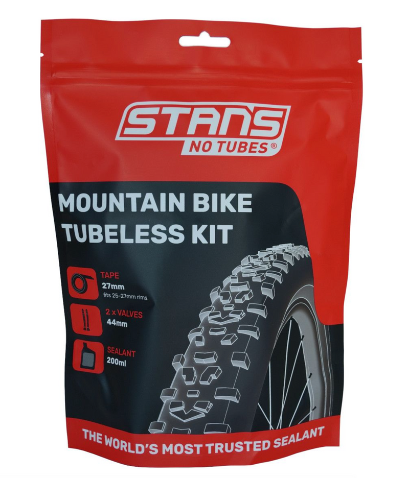 Stans NoTubes MTB Tubeless Kit 27mm Tape 44mm Valve Pack