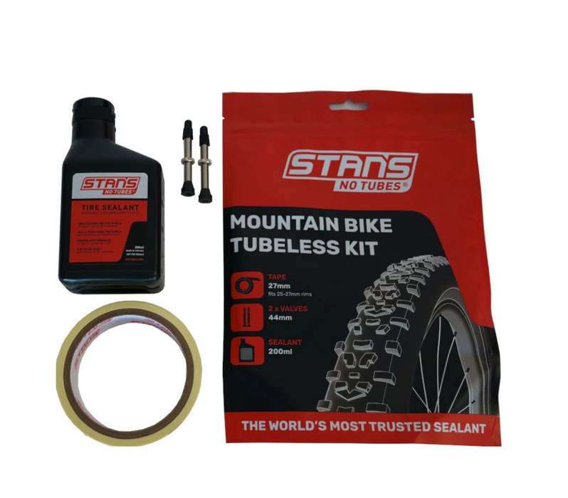 Stans NoTubes MTB Tubeless Kit 27mm Tape 44mm Valve