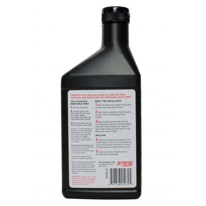 Stans NoTubes Tyre Sealant 472ml Back