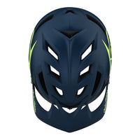 Troy Lee Designs A1 AS Drone Helmet Marine Green Top