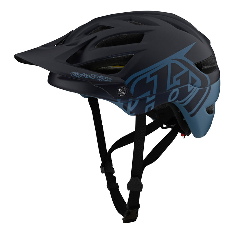 Troy Lee Designs A1 AS MIPS Helmet - Classic Navy Left Side