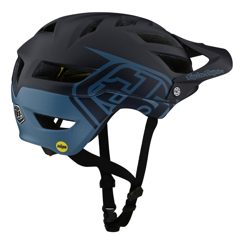Troy Lee Designs A1 AS MIPS Helmet - Classic Navy Right Side