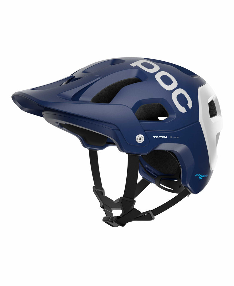 Tectal Race Spin Blue White Matte Profile Left