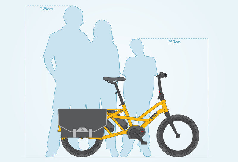 Tern GSD S00 e Bike Yellow Family