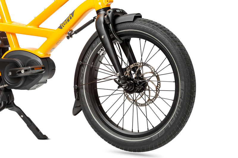 Tern GSD S00 e Bike Yellow Fork