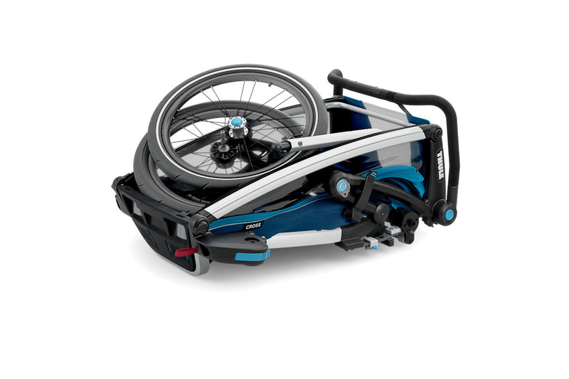 Thule Chariot Cross Trailer Blue Folded