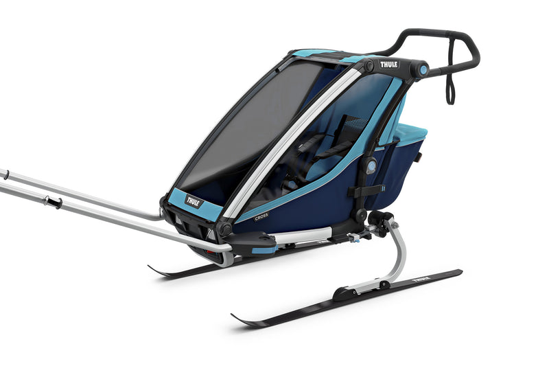 Thule Chariot Cross Trailer Blue Ski