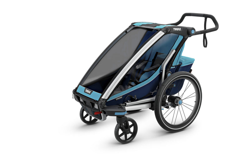 Thule Chariot Cross Trailer Blue Stroller Mode