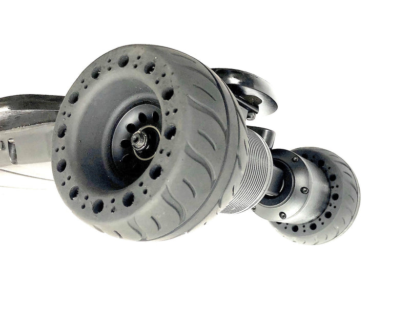 Tranzite Hybrid Direct Drive e Skateboard 115mm Airless Rubber Wheels Angle