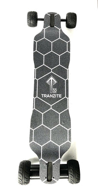 Tranzite Hybrid Direct Drive e Skateboard 115mm Airless Rubber Wheels Top