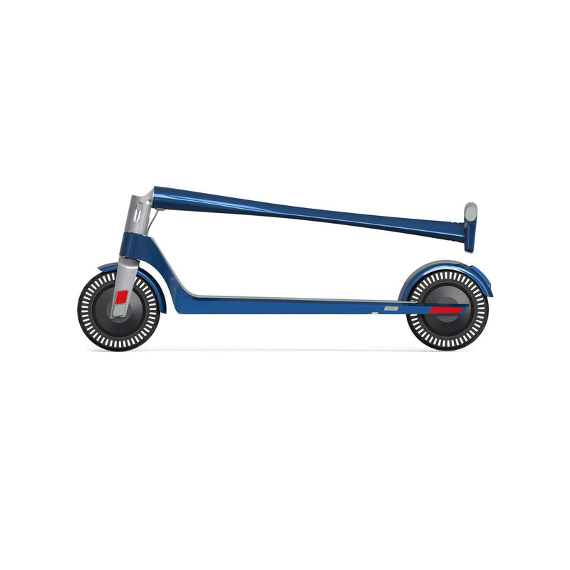 Unagi E450-V3 Dual Motor Electric Scooter Electric Blue Folded Side