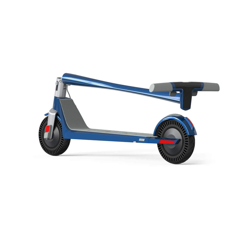 Unagi E450-V3 Dual Motor Electric Scooter Electric Blue Folded