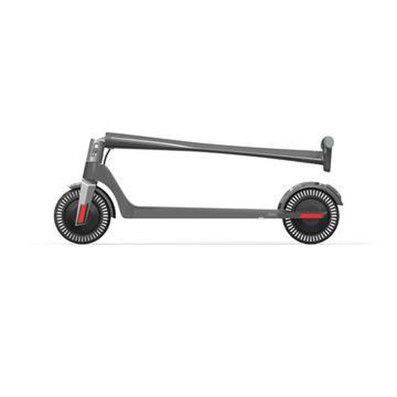Unagi E450-V3 Dual Motor Electric Scooter Gotham Grey Folded Side