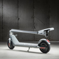 Unagi E450-V3 Dual Motor Electric Scooter Gotham Grey Lifestyle Folded
