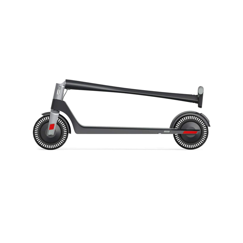 Unagi E450-V3 Dual Motor Electric Scooter Matte Black Folded Side