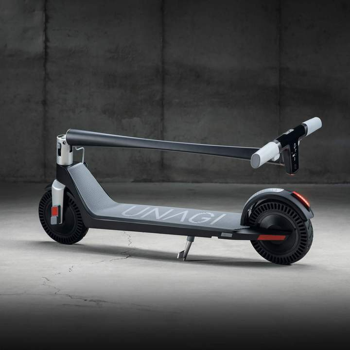 Unagi E450-V3 Dual Motor Electric Scooter Matte Black Lifestyle Folded