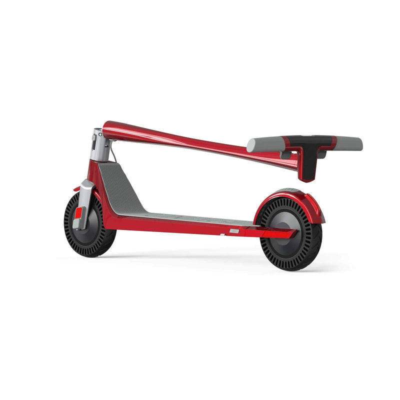 Unagi E450-V3 Dual Motor Electric Scooter Scarlet Fire Folded