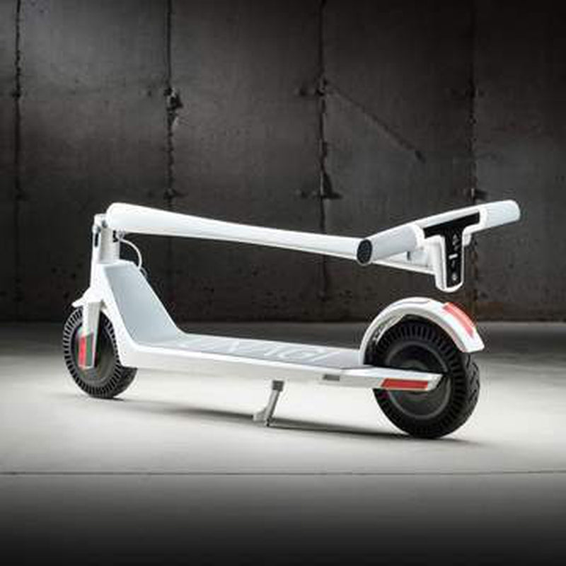 Unagi E450-V3 Dual Motor Electric Scooter Sea Salt Lifestyle Folded