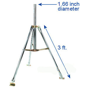4 FT 1.66in satellite tripod