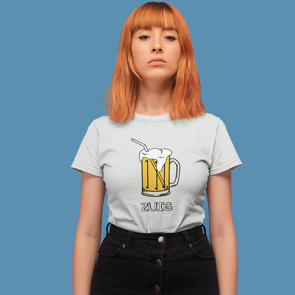 ZUIG bier shirt – Dames - Shopping Out Loud