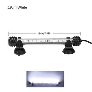 Aquarium Light LED Waterproof Fish Tank Light Underwater Fish Lamp Aquariums Decor Lighting Plant Lamp 19-49CM 220V EU Power