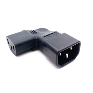 IEC 320 C13 Female to C14 Male PDU Angle Power Cables,IEC C13 angle adapter,Power cord angle adapter