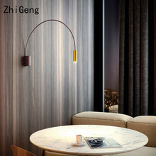 Load image into Gallery viewer, ZhiGeng G10 Geometric Semicircular Wall Lamp Bedside Corridor Aisle Living Room Nordic Rotating Indoor Lighting Fixture Lights