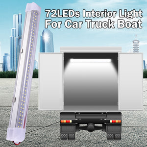 "35cm/13.5"" LED Car Work Light Car Interior Led Light Bar LED Flood Light With Switch For Cabinet Van Lorry Truck Camper Boat D30"