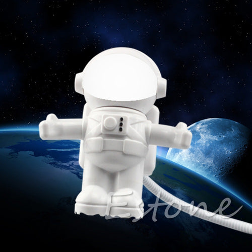 HNGCHOIGE Astronaut USB Powered Mini LED White Night Light Lamp Bulb for Laptop PC Reading