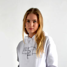 Load image into Gallery viewer, Horizon Hoodie - White Paper White