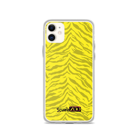 Cover iPhone animalier gialla