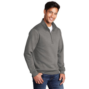 Port & Company ® Core Fleece 1/4-Zip Pullover Sweatshirt-Graphite Heather