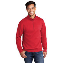 Load image into Gallery viewer, Port & Company ® Core Fleece 1/4-Zip Pullover Sweatshirt-RED