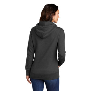Port & Company ® Ladies Core Fleece Pullover Hooded Sweatshirt - Dark Heather Grey