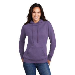 Port & Company ® Ladies Core Fleece Pullover Hooded Sweatshirt - Heather Purple