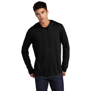 Sport-Tek ® PosiCharge ® Tri-Blend Wicking Long Sleeve Hoodie-Black Triad Solid