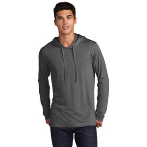 Sport-Tek ® PosiCharge ® Tri-Blend Wicking Long Sleeve Hoodie-Dark Grey Heather