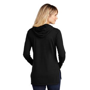 Sport-Tek ® Ladies PosiCharge ® Tri-Blend Wicking Long Sleeve Hoodie - Black Triad Solid