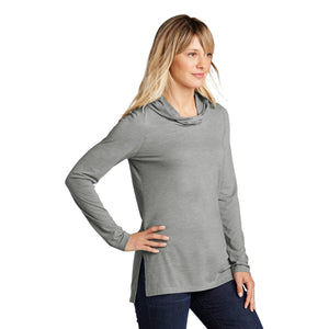 Sport-Tek ® Ladies PosiCharge ® Tri-Blend Wicking Long Sleeve Hoodie - Light Grey Heather