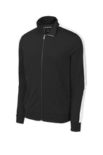 Load image into Gallery viewer, Sport-Tek ® Tricot Track Jacket-Black/ White