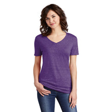 Load image into Gallery viewer, JERZEES ® Ladies Snow Heather Jersey V-Neck T-Shirt - Purple