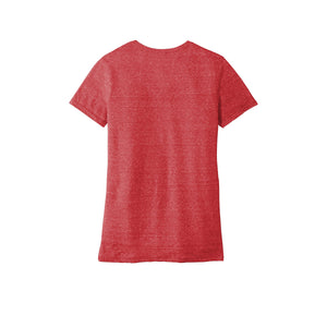 JERZEES ® Ladies Snow Heather Jersey V-Neck T-Shirt - Red