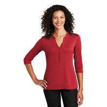 Load image into Gallery viewer, Port Authority ® Ladies UV Choice Pique Henley - Rich Red
