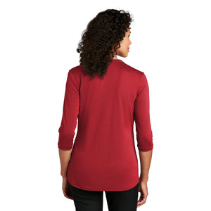 Port Authority ® Ladies UV Choice Pique Henley - Rich Red