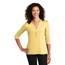Load image into Gallery viewer, Port Authority ® Ladies UV Choice Pique Henley - Sunbeam Yellow