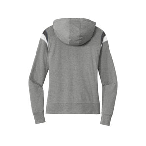 New Era ® Ladies Heritage Blend Varsity Hoodie - Shadow Grey Heather/ Graphite/ White