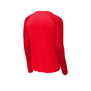 Sport-Tek ® Long Sleeve Digi Camo Tee - True Red