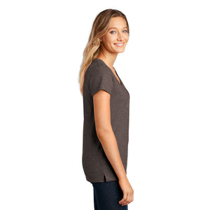District ® Women's Re-Tee ™ V-Neck - Deep Brown Heather
