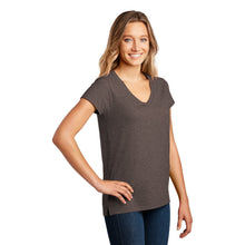 Load image into Gallery viewer, District ® Women's Re-Tee ™ V-Neck - Deep Brown Heather