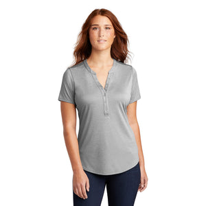 Sport-Tek ® Ladies Endeavor Henley - Light Grey Heather
